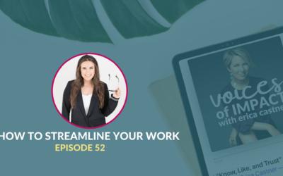 How to Streamline Your Work with Liz Illg- Episode 52