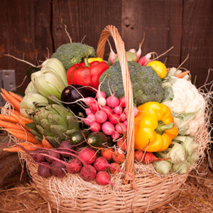 Bountiful Vegetable Basket Delivered