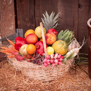 Sara Jane Fruit and Vegetable Basket Delivered