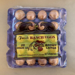 20 Count Tray Brown Eggs