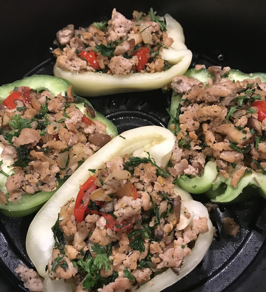 Bell Peppers with Turkey