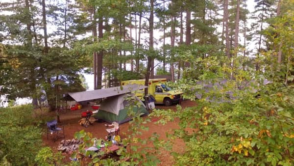 Site 8 waterfront camping site near calabogie