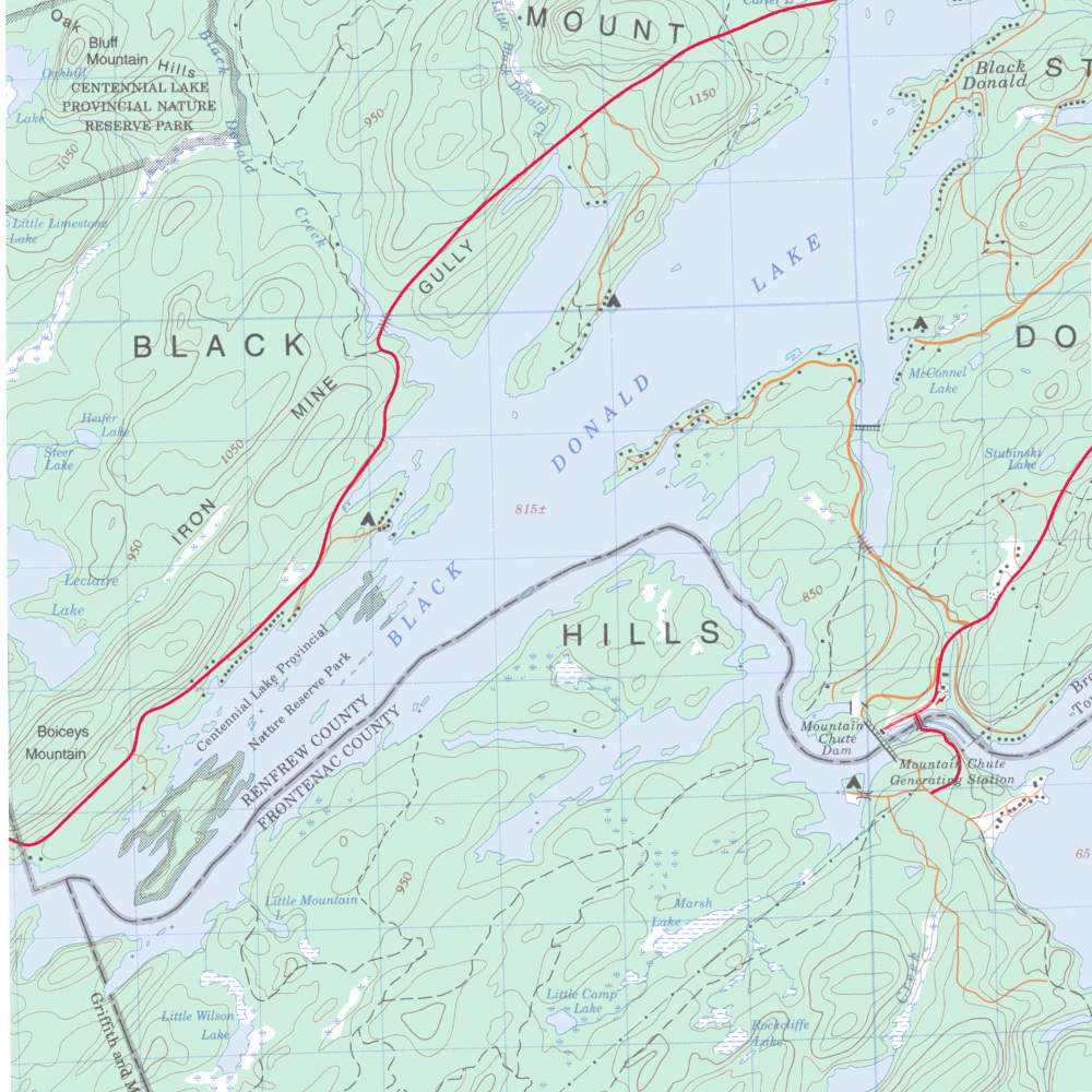 Map of Black Donald Lake After Flooding in 1967