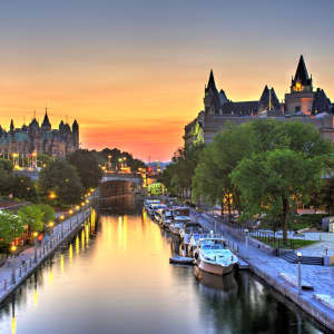 The Ottawa Canal at sunset
