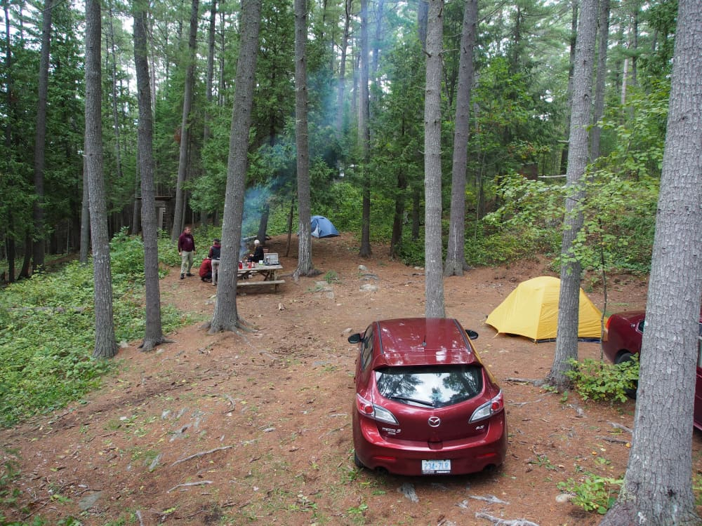 two tents on one of our largest campsites