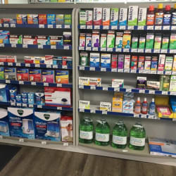 stocked shelves in calabogie pharmacy