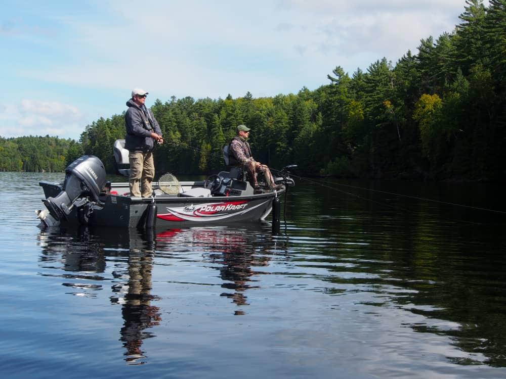 two men fishing