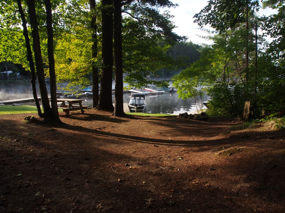 waterfront campsite at best campground in ontario canada