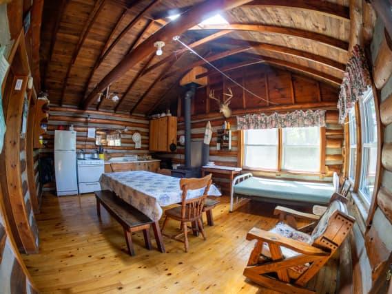 Norcan Lake cabin interior
