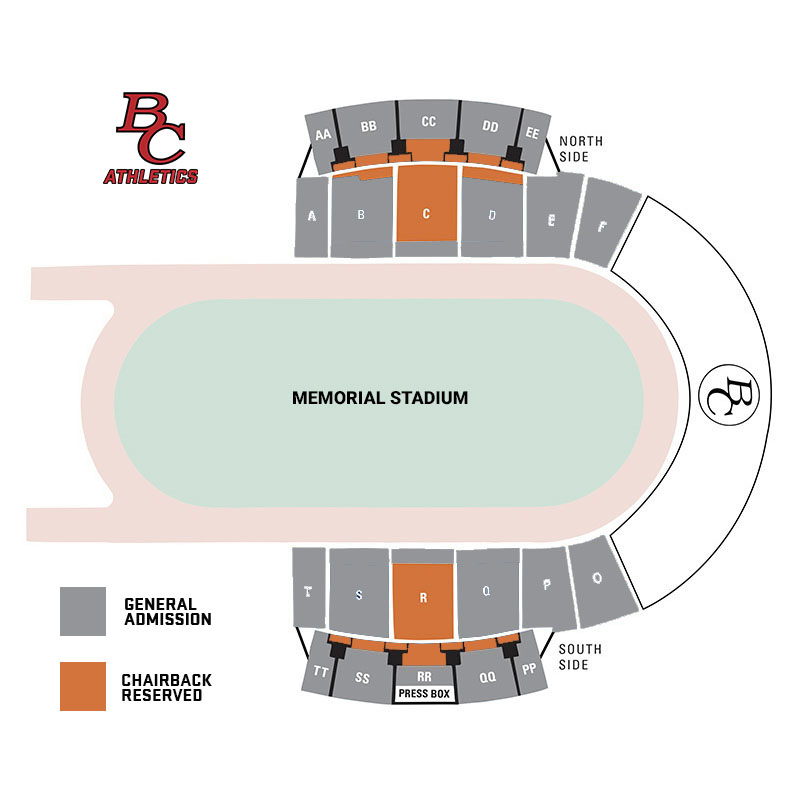 Bakersfield College Memorial Stadium Seating Section Map