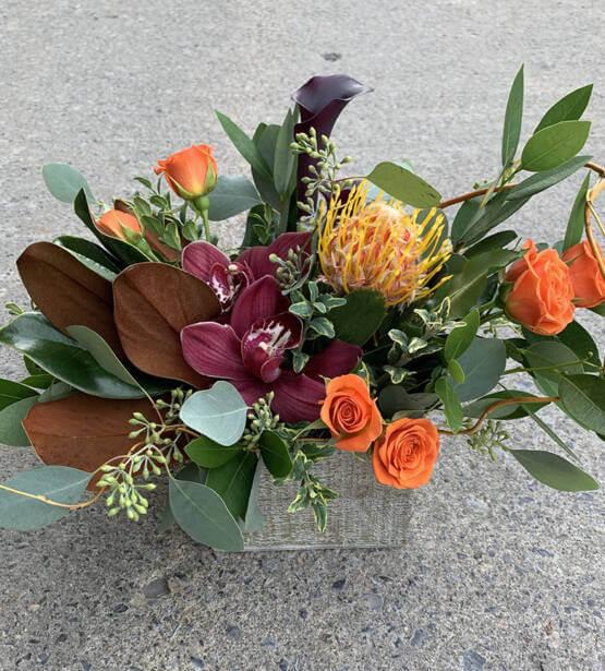 Picture of a Thanksgiving Floral Arrangement