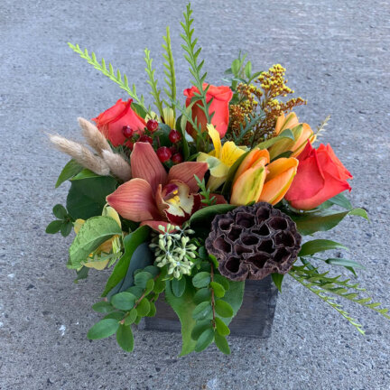 an image of a fall floral arrangement