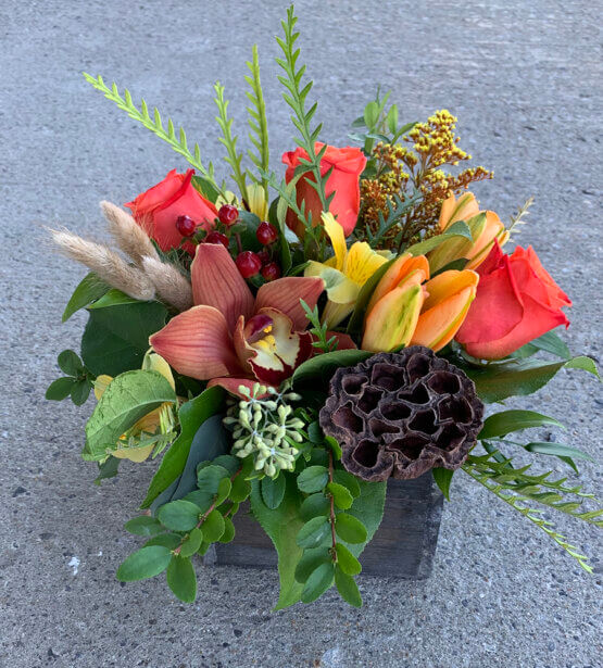 an image of a fall floral arrangement