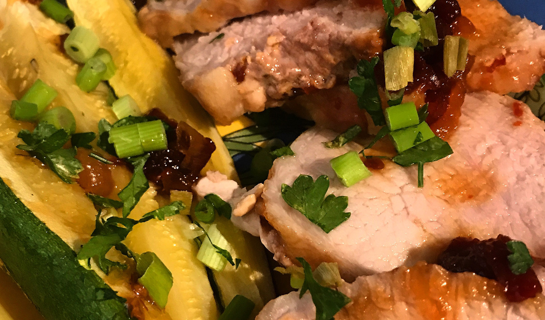 Pork with Apricot and Ancho Chili Sauce