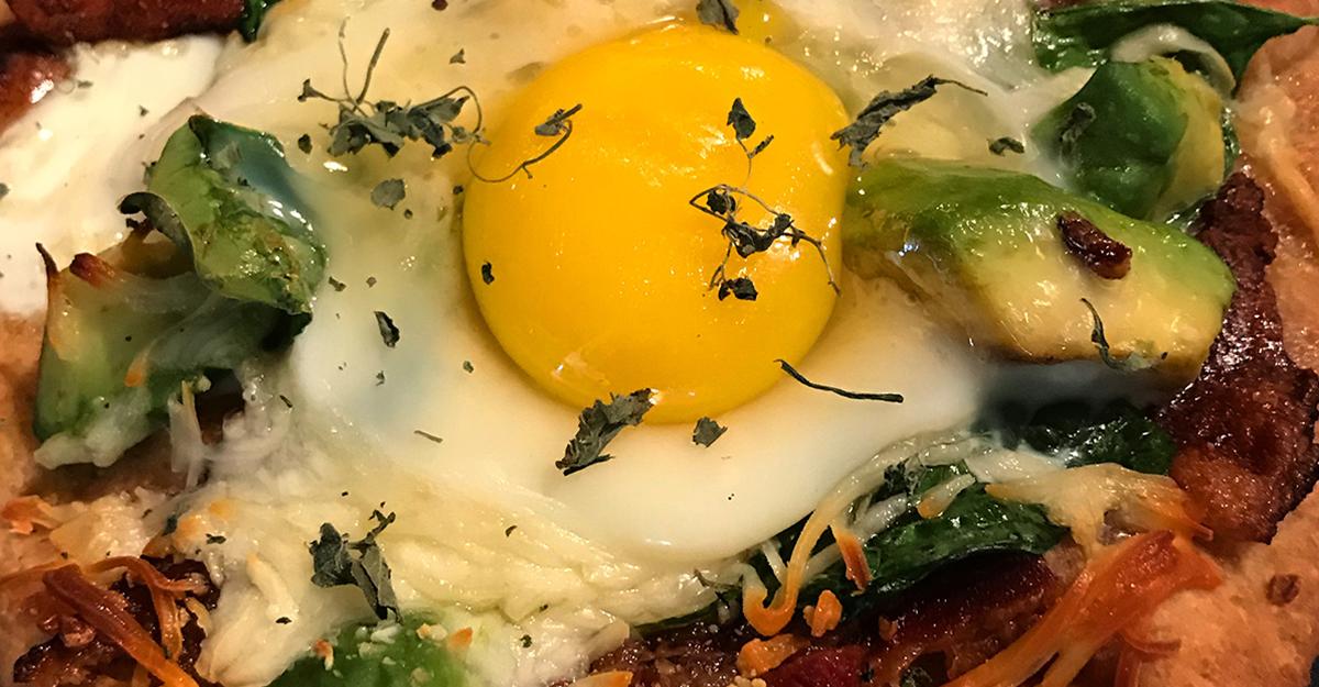 Bacon and Egg Naan Za
