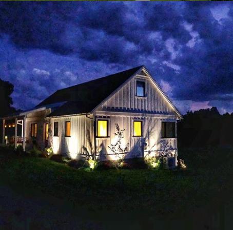 Virginia's Blue Dog Farm at dusk