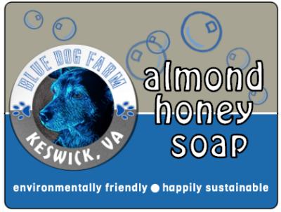Almond Honey Soap from Blue Dog Farm in Virginia