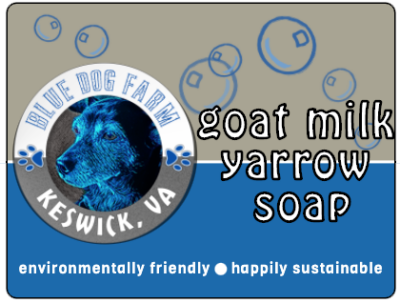 Goat Milk Yarrow Soap from Blue Dog Farm in Virginia