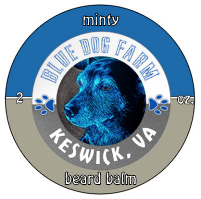 Minty Beard Balm for you from Virginia's Blue Dog Farm