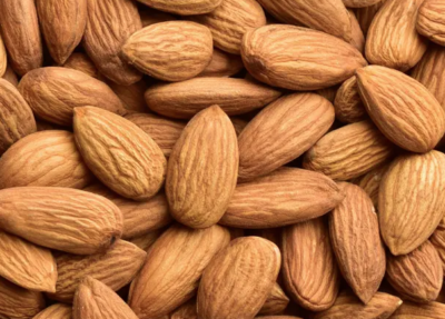 Almonds can be used for soap at Blue Dog Farm