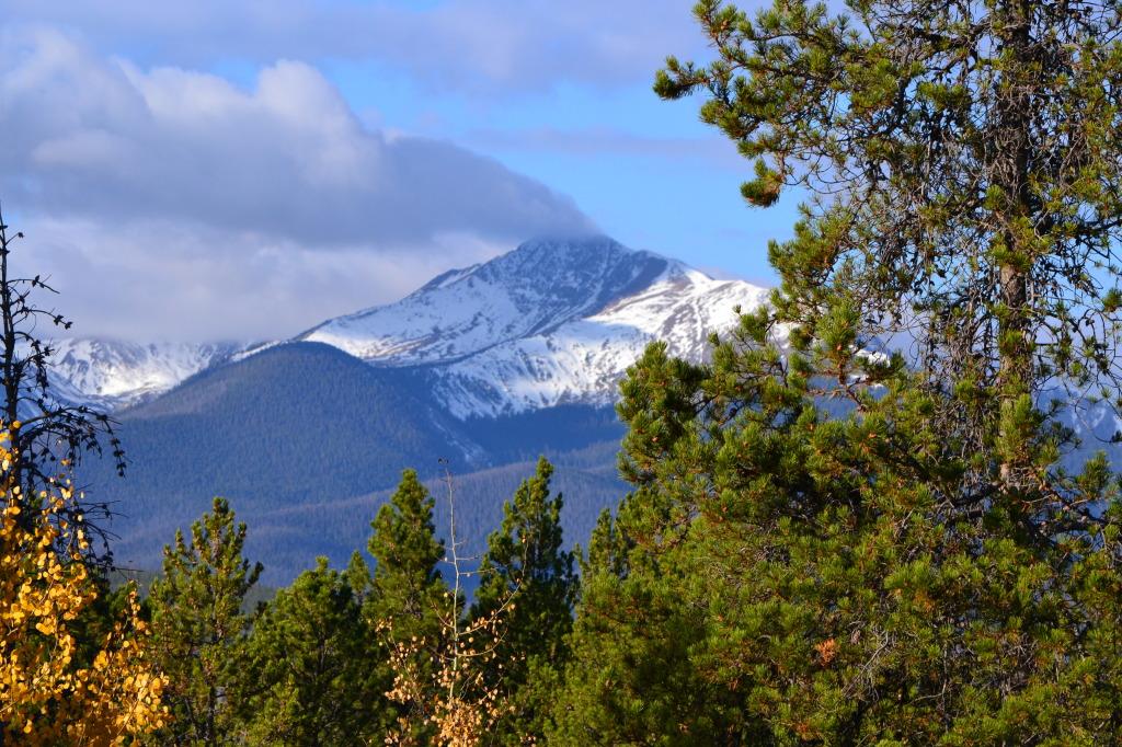 Colorado mountains snow