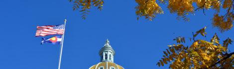 Denver Capitol in Fall