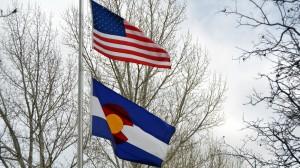 Colorado American Flags