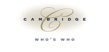 Award 2010 – Cambridge Who's Who