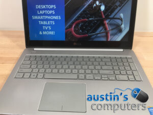 "Silver Dell 15.6"" Touch Screen Laptop Computer"
