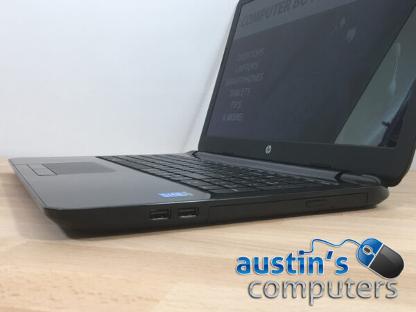 "Glossy Black HP 15.6"" Laptop Computer"