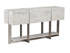Whitewash Wood and Iron Console Table