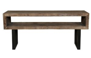 Corsica Wood and Iron Console Table