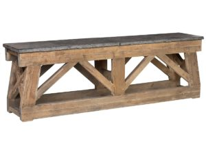 Marbella Stone and Wood Console Table