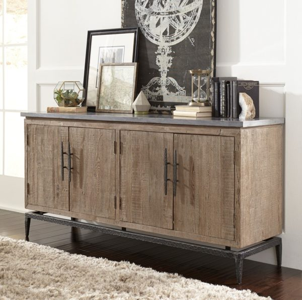 Cromwell Reclaimed Wood and Iron Sideboard