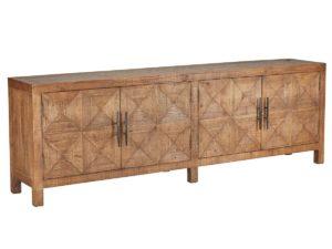 Elani Natural Wood Patterned Sideboard