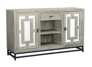 White Wash TV Console Cabinet
