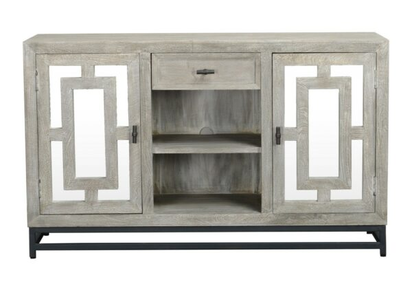 Mirror media console front view