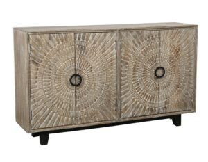 Vivienne Carved Reclaimed Wood Sideboard Cabinet