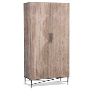 Zell Reclaimed Wood and Iron Cabinet