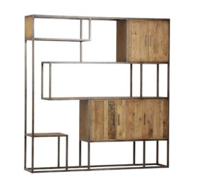 Lutz Wall Bookcase Cabinet