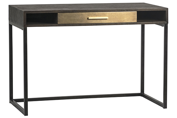 Small black desk with one drawer