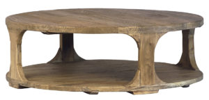 Emil Reclaimed Elm Wood Round Coffee Table