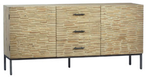 Hardstad White Wash Sideboard Cabinet With Drawers