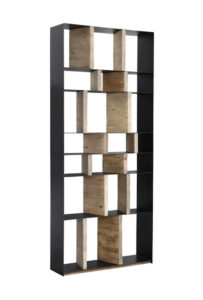 Steel and Wood Tall Bookcase