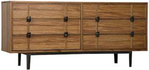 Bourgeois Walnut and Iron Sideboard