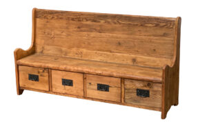 Church Style Entry Bench with Storage