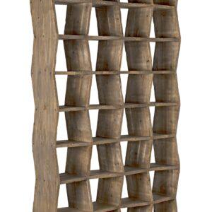 Reclaimed Wood Zigzag Bookcase