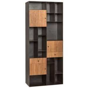 Oksana Metal and Walnut Wood Bookshelf