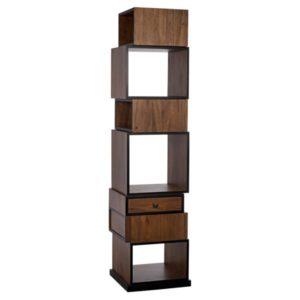 Baron Dark Walnut Bookcase