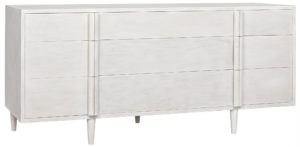 Morten 9 Drawer White Dresser